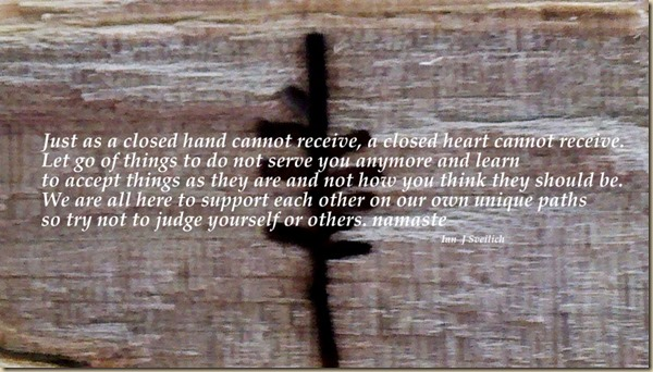 A closed hand cannot receive